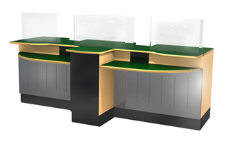 Two Position Open Plan Counter